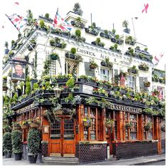 In my opinion, this is the most beautiful pub in London (Notting Hill), if not the world... the flowers!