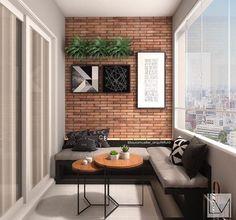 [New] The 10 Best Home Decor Ideas Today (with Pictures) - Inspiração: Varanda Gourmet Projeto: Small Balcony Design, Small Balcony Decor, Patio Design, House Design, Roof Design, Ceiling Design, Design Design, Ideas Terraza, Balcony Furniture