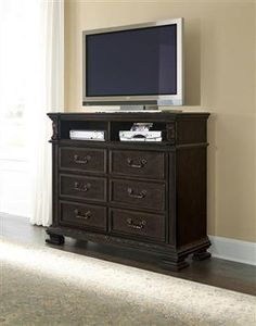 Monarch Traditional Black Wood Media Chest