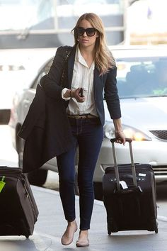 lauren conrad 10 best looks blazer button down jeans ballet flats