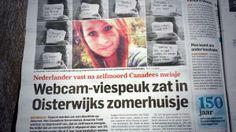 Webcam viespeuk zat in vakantiehuisje in nederland. Algemeendagblad 20 april 2014.