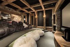Yellowstone Club Summit Residence - rustic - media room - other metro - by Locati Architects