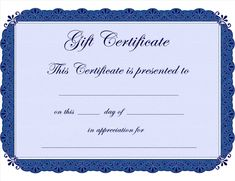Gift Card Templates Free Best Homemade Gift Certificate Templates Free Printable Gift .