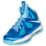 Turqouise and pearl blue Lebron's...