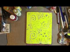 How to use Gelli Plate in your Art Journal Part 1 - YouTube