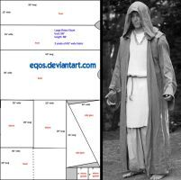 Pattern: Large Hooded Cloak by eqos