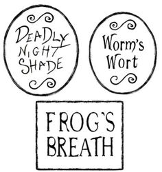 ALTERED ARTIFACTS: Nightmare B4 Christmas Free Printable Printable Poison Bottle Labels