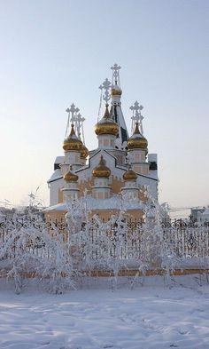 Church in Yakutsk, Siberia, Russia