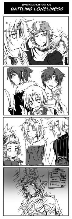 Dissidia FF-Battling Lonliness by meru-chan
