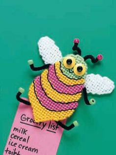 Plastic Canvas - Home Decor - Magnets - Bug Eyes - Plastic Canvas Stitches, Plastic Canvas Crafts, Plastic Canvas Patterns, Needlepoint Patterns, Embroidery Patterns, Cross Stitch Patterns, Drawing For Kids, Craft Patterns, Yarn Crafts