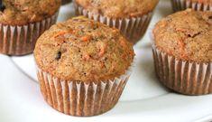 Muffins integrales de zanahoria y especias