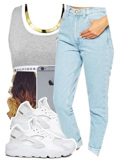 """10/14/15"" by xtaymaxlovesxmisfitx ❤ liked on Polyvore featuring Tommy Hilfiger, ASAP, NIKE and American Apparel"