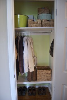 Love the idea of painting the closet a different color that pops but isn't too much!