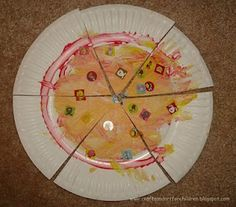 Crafts~N~Things for Children: Paper Plate Pizza Craft for Kids