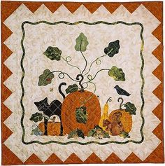"""Autumn Harvest"" quilt pattern, 47 x 47"",  by Pearl Pereira at P3 Designs"