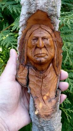 Hand carved from cottonwood