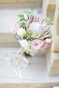 Newest Pics Bridal Bouquet protea Strategies Because one of the most significant and chic gadgets of any bride, your own bridal bouquet echoes si Protea Wedding, Peony Bouquet Wedding, Bridal Flowers, Floral Wedding, Small Wedding Bouquets, Bride Bouquets, Small Bouquet, Flower Bouquets, Wedding Dresses