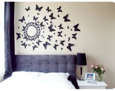 3D Butterfly Wall Art Decal Set of 70 in Purple Paper by LeeShay
