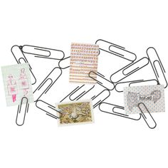 Philippi Paper Clip Memo Board ($35) ❤ liked on Polyvore featuring home, home decor, office accessories, lacquered steel and philippi design