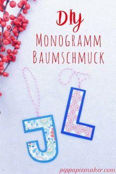 Buchstaben Christbaumschmuck - Pippa Pie-Maker