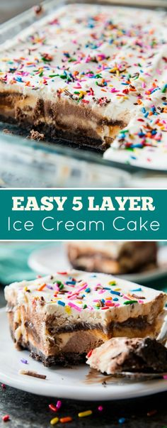 Easy 5 Layer Ice Cream Cake