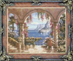 """Needlepoint picture and pattern """"RO"""" 2/1"""
