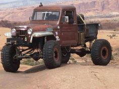 Rat rod crawler Jeep Willys pickup