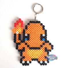 Pokemon Charmander Keychain Sprite Perler Art Creation | eBay