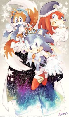Sonic's Winter Dream by MissNeens.deviantart.com on @DeviantArt