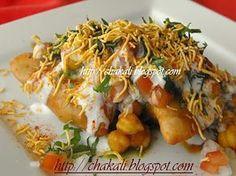 Samosa Chaat Recipe, Delhi, North Indian recipes, vegetarian