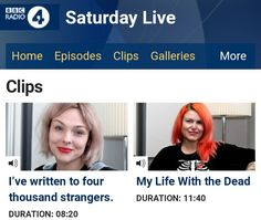 I was honoured to be on Saturday Live, October 27th, for 2.5 million listeners