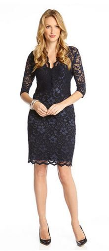 Love! Love! Love this Dress!  Blue and Black Lace Dress!