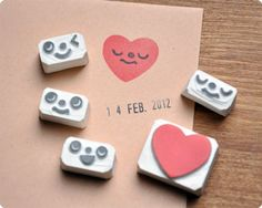 face heart stamps