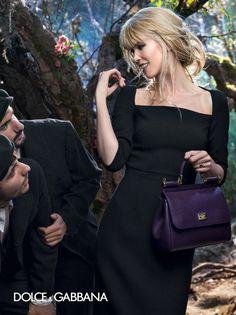 dolce gabbana 2014 fall winter campaign8 Claudia Schiffer, Bianca Balti Star in Dolce & Gabbanas Fall 2014 Campaign