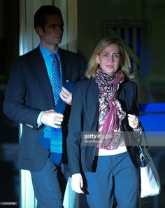 Princess Cristina de Borbon and her husband <a gi-track='captionPersonalityLinkClicked' href=/galleries/search?phrase=Inaki+Urdangarin&family=editorial&specificpeople=159330 ng-click='$event.stopPropagation()'>Inaki Urdangarin</a> leave the courtroom at the Balearic School of Public Administration for summary proceedings on January 11, 2016 in Palma de Mallorca, Spain. Princess Cristina of Spain, sister of King Felipe VI of Spain, faces a tax fraud trial over alleged links to business…