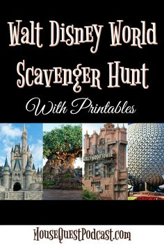Walt Disney World Scavenger Hunt / Magic Kingdom / Epcot / Animal Kingdom / Hollywood Studios