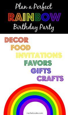 Rainbow Birthday Party Ideas - RachelCooks.com