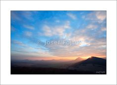 Fine Art Photography Print on a high-end photo paper - View from the Ostry Hill to the west, Ceske stredohori Mountains, Czech Republic