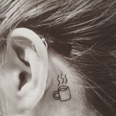 How cute is this tiny coffee tattoo?