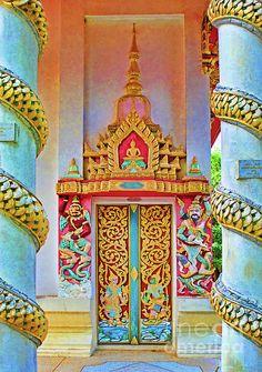 Bophut Temple In Thailand Photograph  - Bophut Temple In Thailand Fine Art Print