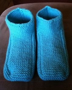 Warm and Cozy Knitted Slippers/Booties  by Snowbabyscreations, $22.00