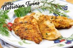Italian Spiced Chicken | DELISH | Gets Crunchy on-the-outside & tender on-the-inside | Good bye BORING, hello tantalizing & Healthy, PROTEIN-packed, ONLY 115 CALORIES | ENJOY! :) For MORE RECIPES please SIGN UP for our FREE NEWSLETTER www.NutritionTwins.com