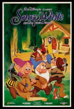 Filme: Snow White and the Seven Dwarfs (Branca de Neve e os Sete Anões, 1937). Direção: William Cottrell, David Hand, Wilfred Jackson, Larry Morey, Perce Pearce e Ben Sharpsteen. Elenco: Roy Atwell, Adriana Caselotti e Lucille La Verne.