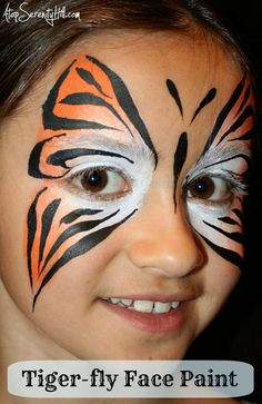 Tiger-fly • Butterfly face paint alternatives for boys « Atop Serenity Hill