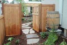 Capture and store excess rainfall and save it for use in the garden. You can use your container