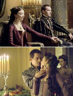The Tudors (2007 - 2010) Starring: Natalie Dormer as Anne Boleyn and Jonathan Rhys Meyers as Henry VIII of England.