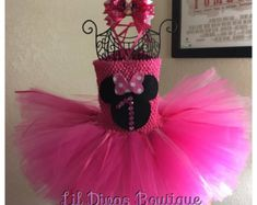 Minnie Mouse tutu dress by HappyLittleRy on Etsy