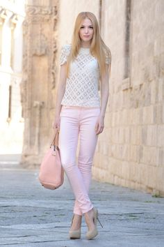 Lace top Pink pants
