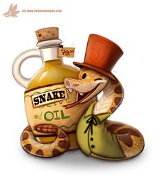 Daily Paint #1082. Snake Oil Salesman by Cryptid-Creations.deviantart.com on @DeviantArt