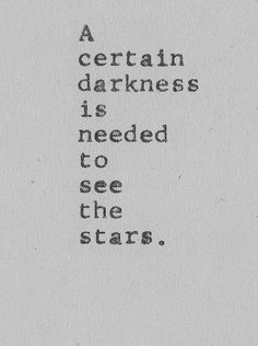 A certain darkness...